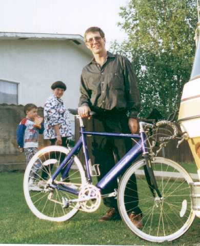 Dr. Andries Botha and bike